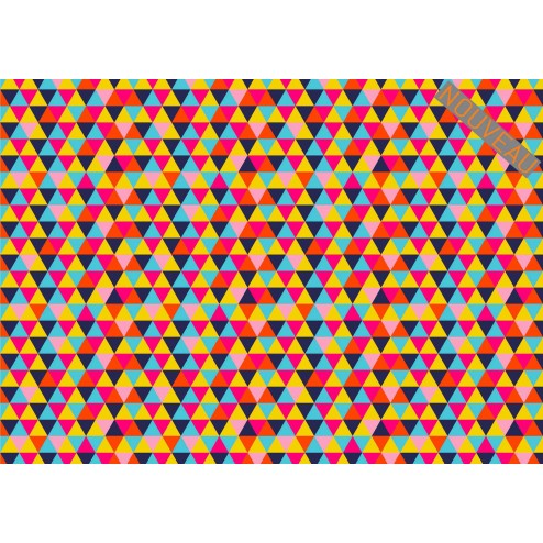 TRANSFERT TRIANGLES MULTICOLORS